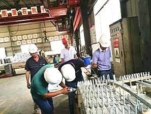 市政质监站组织召开预埋滑槽管片生产质量现场会