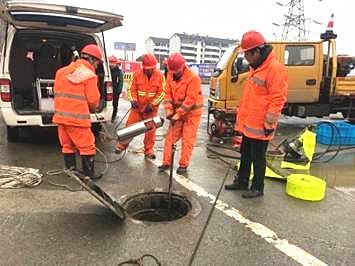 市政检测中心对地铁4号线一期工程雨污水管道进行检测